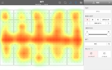 mesh network system heatmap